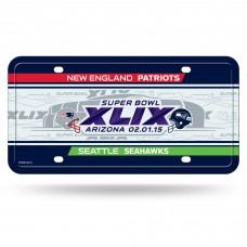 Super Bowl XLIX Dueling Metal License Plate