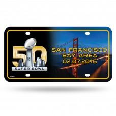 Super Bowl 50 Metal License Plate