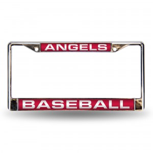 ANGELS RED LASER CHROME CALIFORNIA LICENSE PLATE FRAME