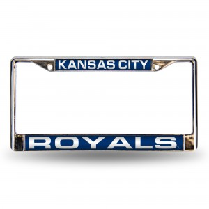 ROYALS BLUE LASER CHROME KANSAS LICENSE PLATES FRAME
