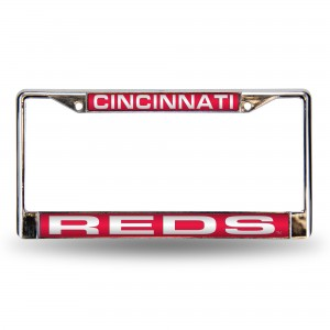 REDS RED LASER CHROME OHIO LICENSE PLATE FRAME
