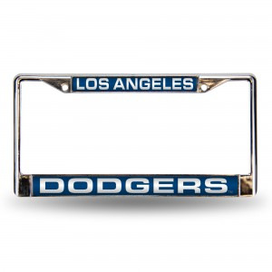 DODGERS BLUE LASER CHROME CALIFORNIA LICENSE PLATE FRAME