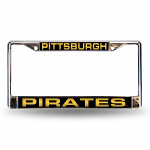 PIRATES BLK LASER CHROME PENNSYLVANIA LICENSE PLATES FRAME