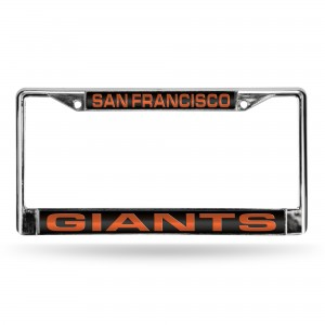 SF. GIANTS BLK LASER CHROME CALIFORNIA LICENSE PLATE FRAME