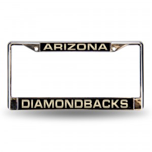 DIAMONDBACKS BLACK LASER CHROME ARIZONA LICENSE PLATES FRAME