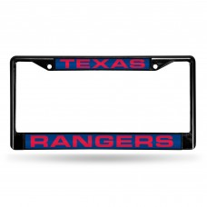 TEXAS RANGERS BLACK LASER CHROME FRAME