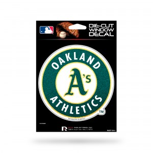 OAKLAND A'S BLING MEDIUM DIE CUT DECAL
