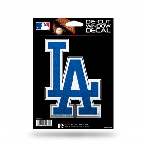 LOS ANGELES DODGERS BLING MEDIUM DIE CUT DECAL