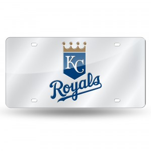 KANSAS CITY ROYALS SILVER LASER KANSAS LICENSE PLATES