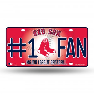 BOSTON RED SOX #1FAN METAL NUMBER PLATE