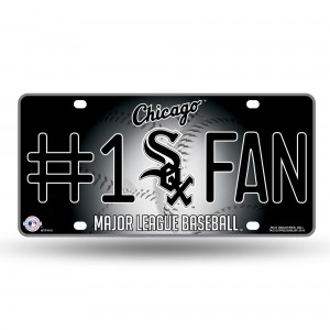 CHICAGO WHITE SOX #1 FAN METAL NUMBER PLATE