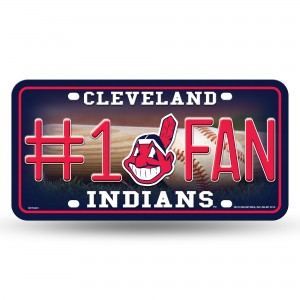CLEVELAND INDIANS #1 FAN METAL NUMBER PLATE