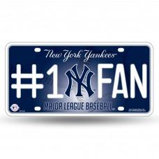 NEW YORK YANKEES #1 FAN METAL TAG