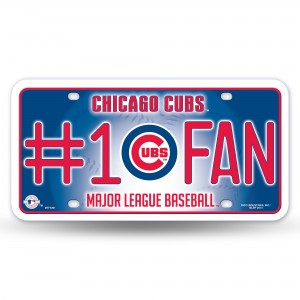 CHICAGO CUBS #1 FAN METAL NUMBER PLATE
