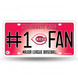 REDS # 1 METAL NUMBER PLATE