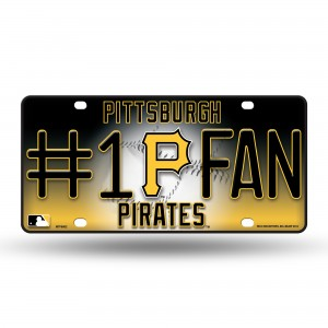 PIRATES #1 FAN METAL NUMBER PLATE