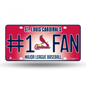 ST. LOUIS CARDINALS #1 FAN METAL NUMBER PLATE