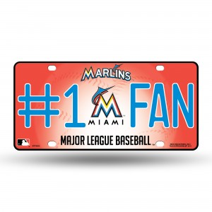 MIAMI MARLINS #1 FAN METAL NUMBER PLATE