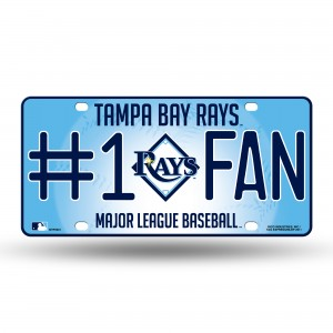 TAMPA BAY RAYS #1 FAN METAL NUMBER PLATE