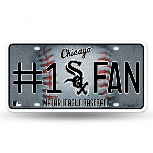 WHITE SOX BLING # 1 FAN METAL NUMBER PLATE