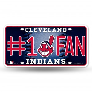 INDIANS BLING # 1 FAN METAL NUMBER PLATE