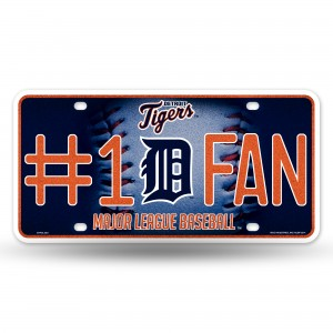 TIGERS BLING # 1 FAN METAL NUMBER PLATE
