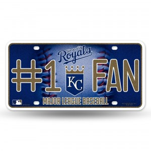 ROYALS BLING # 1 FAN METAL NUMBER PLATE
