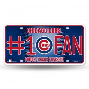 CUBS BLING # 1 FAN METAL NUMBER PLATE