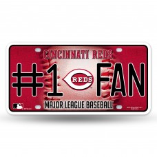 REDS BLING # 1 FAN METAL TAG