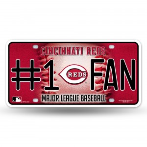 REDS BLING # 1 FAN METAL NUMBER PLATE