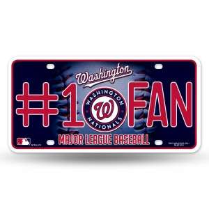 NATIONALS BLING # 1 FAN METAL NUMBER PLATE