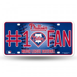 PHILLIES BLING # 1 FAN METAL NUMBER PLATE