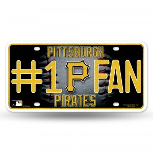 PIRATES BLING # 1 FAN METAL NUMBER PLATE