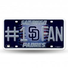 PADRES BLING # 1 FAN METAL TAG