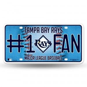 RAYS BLING # 1 FAN METAL NUMBER PLATE