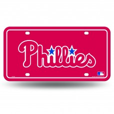 PHILLIES SCRIPT LOGO METAL TAG (RED)