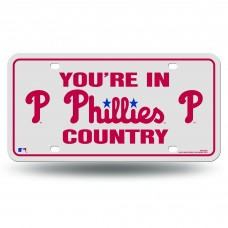 PHILLIES COUNTRY METAL TAG WHITE