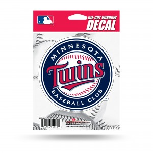 MINNESOTA TWINS MEDIUM DIE CUT STICKERS
