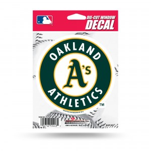 OAKLAND A'S MEDIUM DIE CUT STICKERS