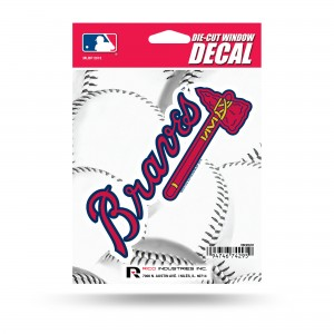 ATLANTA BRAVES MEDIUM DIE CUT STICKERS