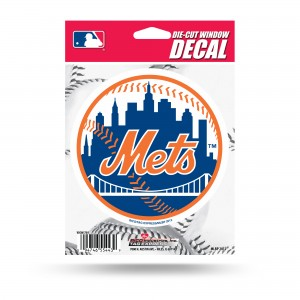 NEW YORK METS MEDIUM DIE CUT STICKERS