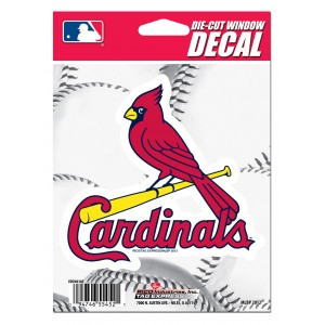 STL CARDINALS MEDIUM DIE CUT STICKERS