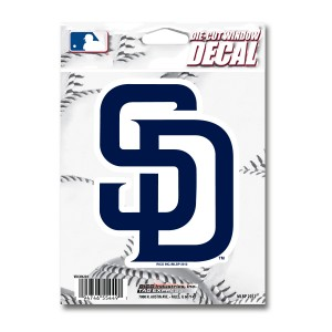 SAN DIEGO PADRES MEDIUM DIE CUT STICKERS