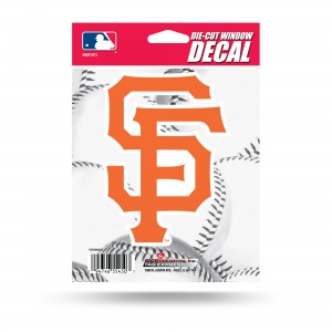 SF GIANTS SF LOGO MEDIUM DIE CUT STICKERS