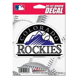 COLORADO ROCKIES MEDIUM DIE CUT STICKERS