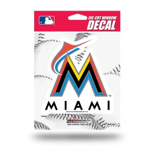 MIAMI MARLINS MEDIUM DIE CUT STICKERS