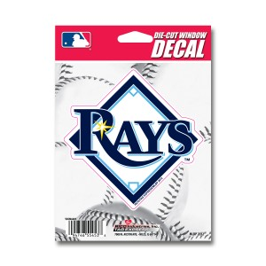 TAMPA BAY RAYS MEDIUM DIE CUT STICKERS