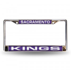 SAC KINGS PURPLE LASER CHROME CALIFORNIA LICENSE PLATE FRAME
