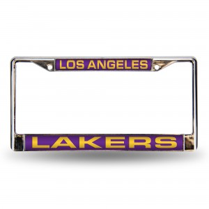 LAKERS PURPLE LASER CHROME CALIFORNIA LICENSE PLATE FRAME