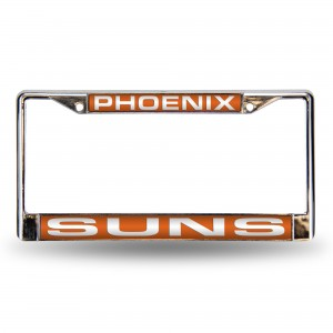 SUNS ORANGE LASER CHROME ARIZONA LICENSE PLATES FRAME
